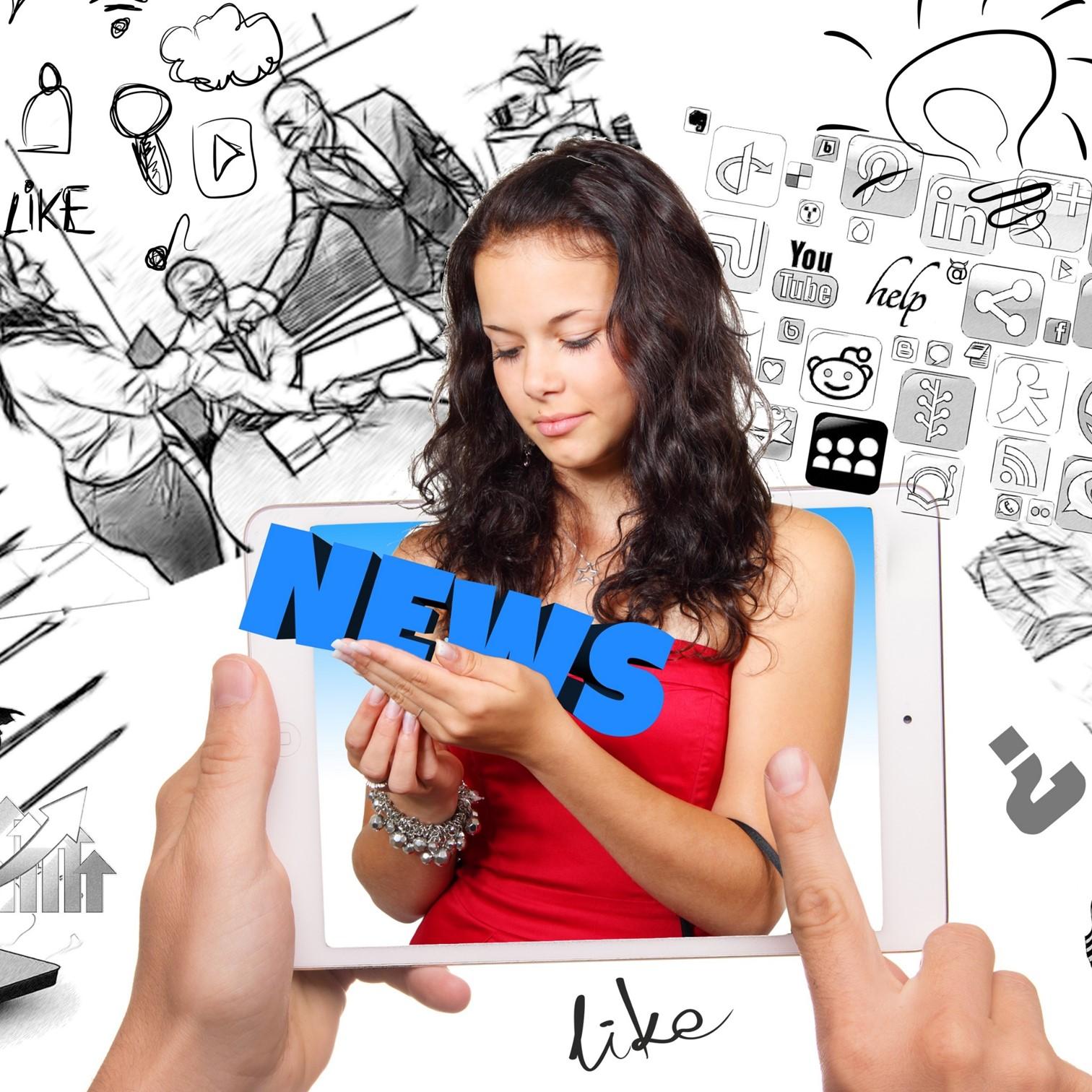 femme réseaux sociaux news