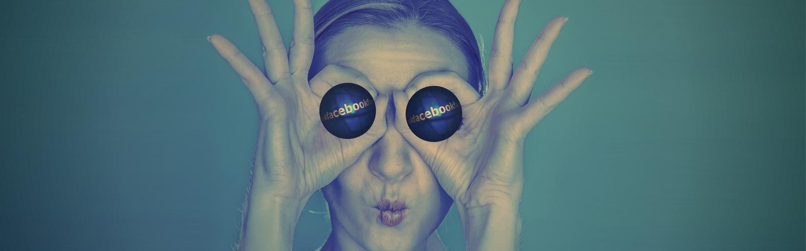 femme yeux facebook