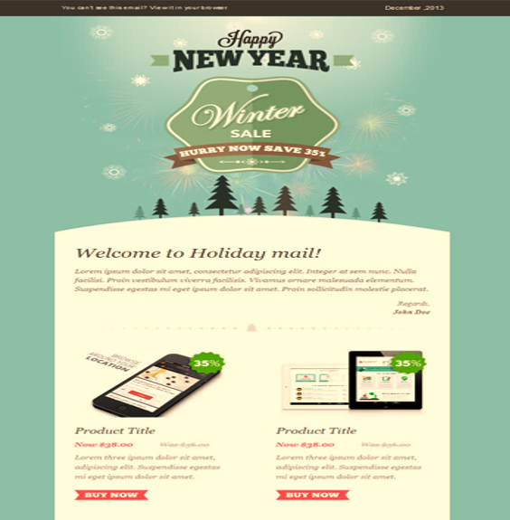 Exemple mailing template